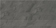 Zdjęcie Opoczno Saturn stopień satyna czarny 29,5x59,5 OD076-065