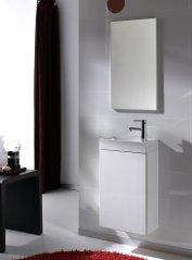 Zdjęcie Szafka z umywalką i lustrem Set Young White Elita 162341