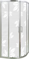 Zdjęcie Kabina ARENA 90x90x185 półokrągła, profil szczotkowany, szkło mrożone ARENA